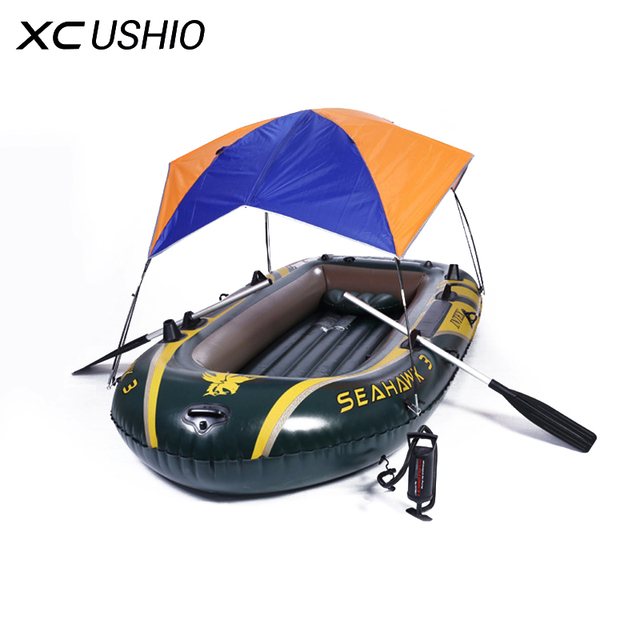 For 2-4 Persons Tent Sun Shelter Hovercraft Boat Awning Inflatable Boat Easy to Instal Remove Sun Shade Maritime Trip Sunshade