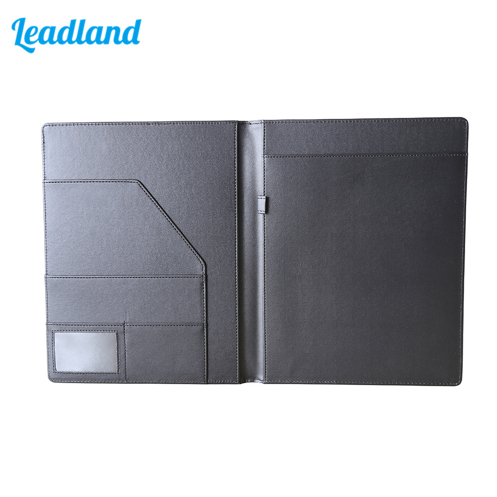 A4 Writing Pads Clipboard PU Leather Business Financial School Plastic With Name Card Slot For Office School Supplies 1678 Black segal business writing using word processing ibm wordstar edition pr only