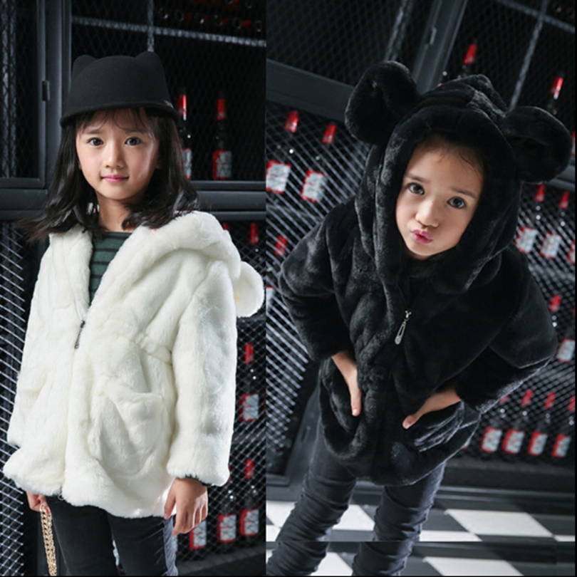 2017 Children Mink Hair Fur Coat Winter Warm Fashion Long Stlye Solid Suit Collar Clothing for Girls Windbreaker for Girl T009 2017 children wool fur coat winter warm natural 100% wool long stlye solid suit collar clothing for boys girls full jacket t021