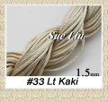 1.5mm  Lt Khaki Chinese Knot Beading Polyester (similar but not nylon ) Cord - 15M NCP15