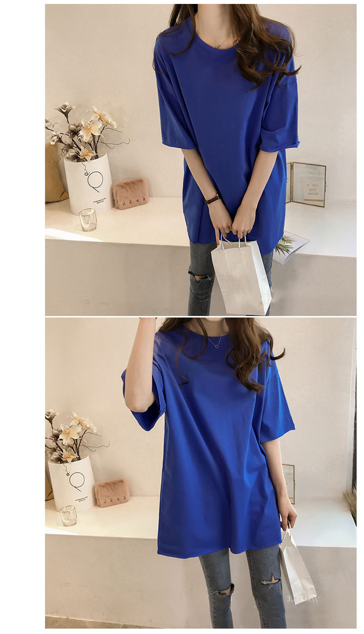 Candy Color Short Sleeve Loose T-Shirts Girls Summer 19 New Cool O-Neck Boyfriend Student Women T-Shirt Lady Tops Plus Size 20