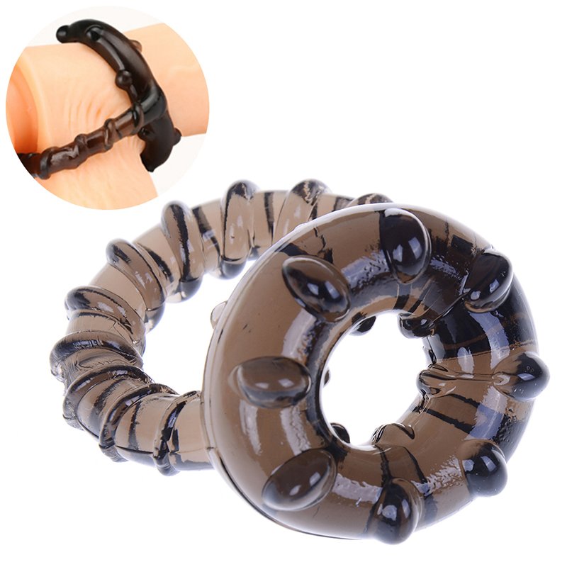 Dual Delay Ring Men Male Soft Time Silicone Penis Cock Ring Lasting Product Party Body Jewelry Lover Sexy Toy Game Tool