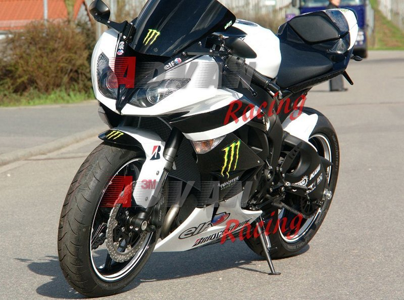 For Kawasaki Ninja ZX6R 2009 2010 11 2012 Complete Fairing Bolt Screws Kit Black