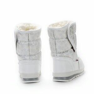 Image 2 - Белые сапоги для девочек, зимние сапоги маленькой принцессы, Красивые Зимние мини сапоги, размер 25 41, простые сапоги на липучке