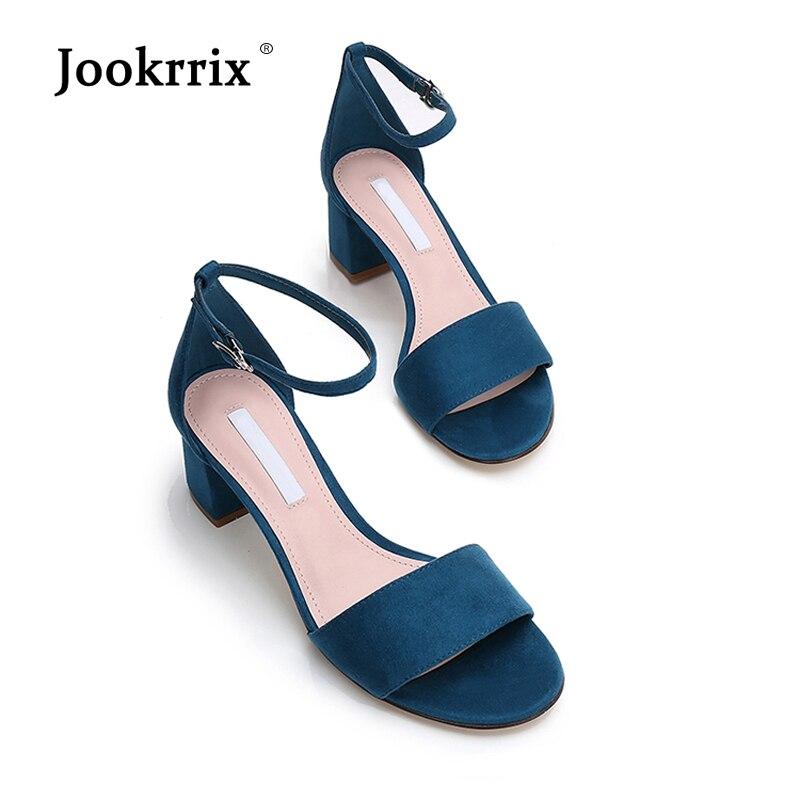 Peep Negro azul Marca Toe Chaussure Talón Sandalia Señora Jookrrix Mujer Hebilla Tobillo Negro Chica Calzado Zapatos Moda Adultos 2018 Med 8zwHU