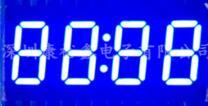 Бесплатная доставка 10 шт. x 0,36 дюйм(ов) синий и красный цвета с часами 4 цифровой трубки 3462AB 3462BB 3462AS 3462BS светодиодный Дисплей модуль