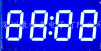 FREE SHIPPING 10PCS x 0.36 inches Blue Red With Clock <font><b>4</b></font> Digital Tube 3462AB 3462BB 3462AS 3462BS <font><b>LED</b></font> Display <font><b>Module</b></font> image