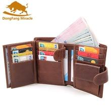 Мужской кошелек из натуральной кожи, фирменные дизайнерские мужские клатчи, сертификаты, сумка с карманом для денег, вместительные Кошельки для монет
