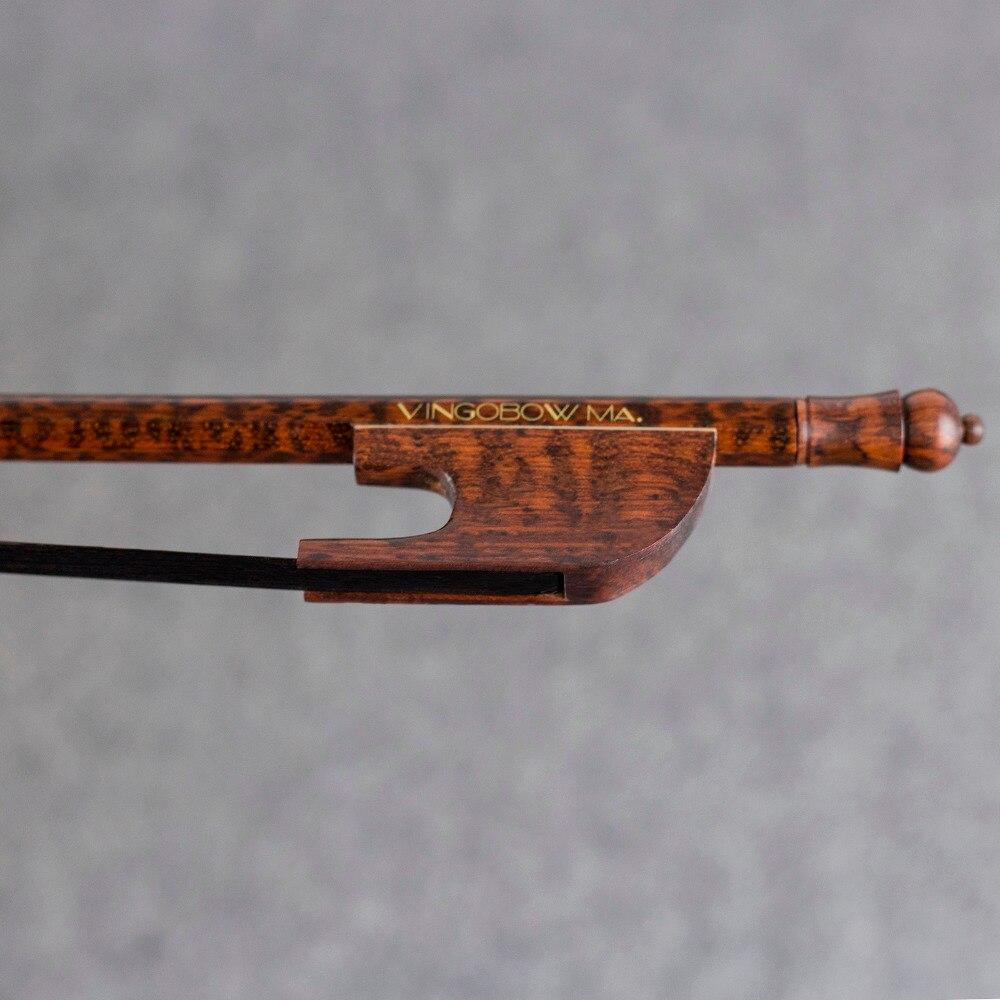 610VB 4 4 Size Light Baroque VIOLIN BOW Snakewood Stick and Frog Natural Black Horsehair Easier