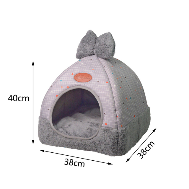OLN 1PC Pet Dog Bed & Sofa Warming Dog House Soft Dog Nest Winter Kennel For Puppy Cat Plus Size Small Medium Dogs Pet 5