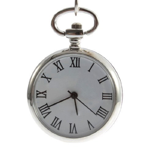 Antique Dial Quartz Round Pocket Watch With Chain Mechanical Movement Pendant