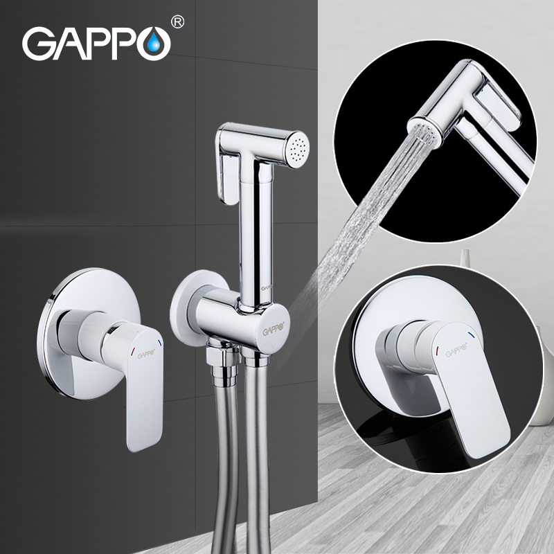 GAPPO Shower Faucets Brass Bathroom Bidet Toilet Sprayer Bidet Toilet Washer Mixer Shower Ducha Higienico Bidet Spray