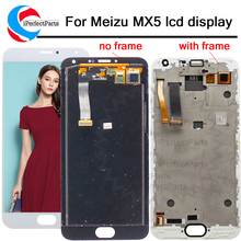 Affichage meizu mx5 écran tactile numériseur assemblée pour meizu mx 5 Meilan MX5 lcd avec cadre pour meizu mx5 lcd