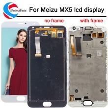 Ekran meizu mx5 Ekran dokunmatik ekranlı sayısallaştırıcı grup Için meizu mx 5 Meilan MX5 için çerçeve ile lcd meizu mx5 lcd