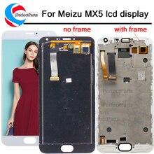 Meizu mx5 display de toque digitador da tela assembléia para meizu mx 5 meilan mx5 lcd com moldura para meizu mx5 lcd