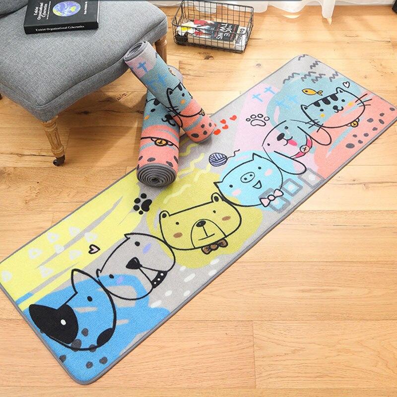 Dessin animé Kitty ours motif Animal tapis pour cuisine salon chambre tapis de bain un Long tapis confortable
