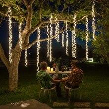 4m x 2.5m เชื่อมต่อไฟ led string คริสต์มาส garland led racimos ไฟ fairy งานแต่งงาน garden party ผ้าม่านตกแต่ง