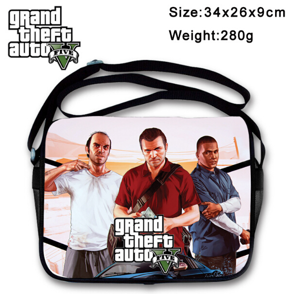 Grand Theft Auto V GTA 5 Shoulder Bag Rucksack Bag New Messenger Boys Girls