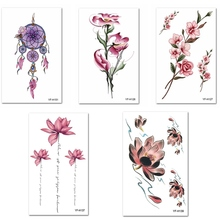 3D Flowers Removable Temporary Tattoos