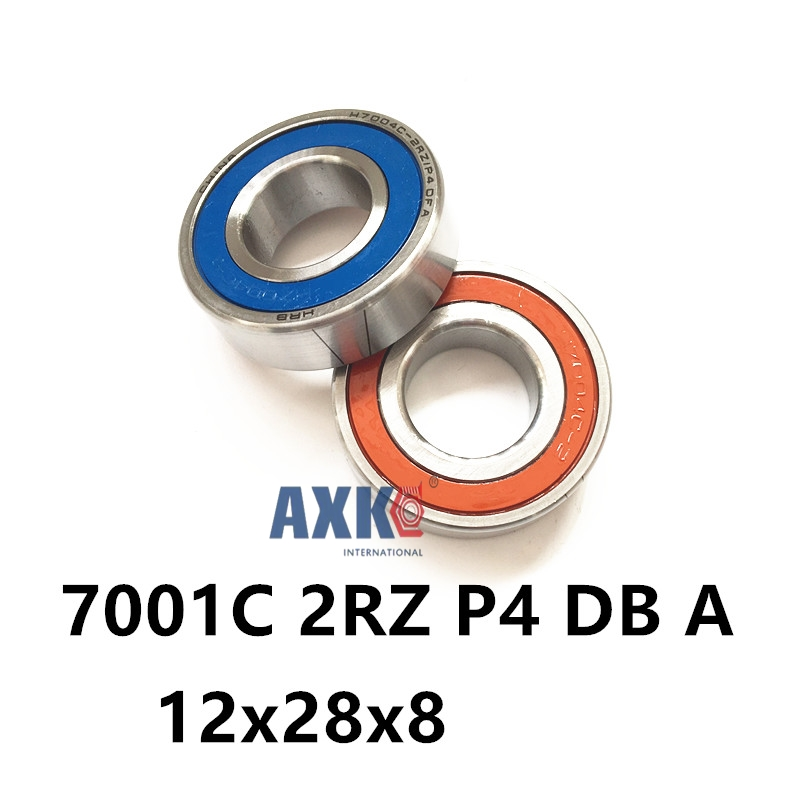 1 Pair AXK  7001 7001C 2RZ P4 DB A 12x28x8 12x28x16 Sealed Angular Contact Bearings Speed Spindle Bearings CNC ABEC-7 1pcs 71901 71901cd p4 7901 12x24x6 mochu thin walled miniature angular contact bearings speed spindle bearings cnc abec 7