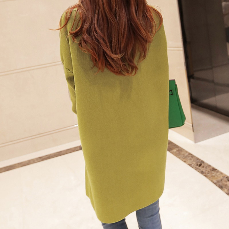 New Arrivals Covered Button Long Cardigan sweater Female 2017 Long Sleeve Knit Cardigans Women Autumn Winnter Sweater coats AS42