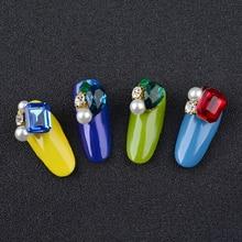 Alloy Glitter Nail Art Rhinestones Pearls Decorations Super Luxurious 3D Charm Jewelry Manicure Tools