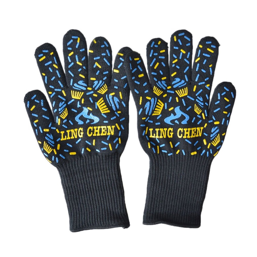 LESHP 1Pc Microwave Oven Gloves High Temperature Resistance Non-slip Oven Mitts Heat Insulation Kitchen Cooking Grilling Gloves new design silicone bbq gloves grilling bbq gloves heat resistant gloves oven mitts en 407