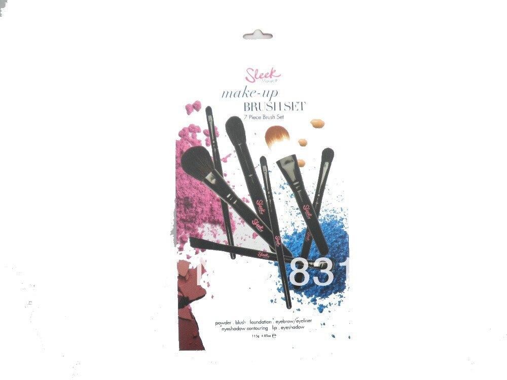 Free Shipping Sleek Makeup 7 piece make up brush set for powder blush foundation eyebrow eyeshadow