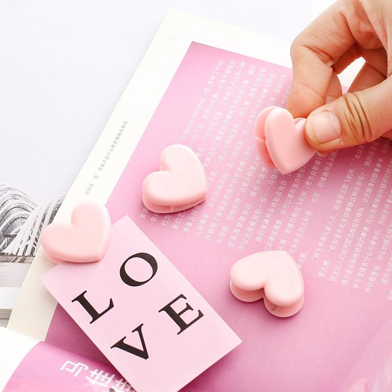 4 Pcs/lot Love Pink Heart Cute Pushpin Clip Thumbtack Pins Decorative DIY Tool