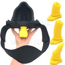Silikon Pisse Urinal Mund Gag Bondage Kopf Harness Gürtel Mit 4 stücke Gag Ball Slave BDSM Sex Spielzeug Für Erwachsene spiele Erotische Sex Spielzeug