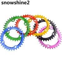 Snowshine2 #3001 104BCD 34ครั้งเบาอัลลอยด์จักรยานจักรยานChainringวงกลมรอบChainwheelขายส่ง