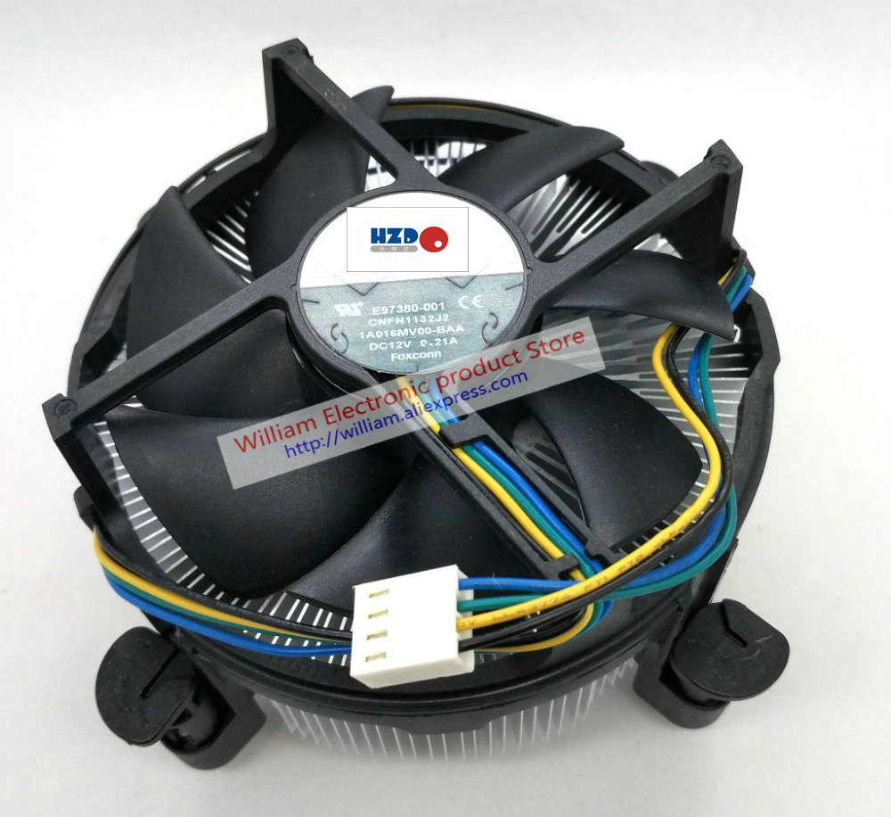 New Original for Intel 1150 1366 2011 Interface 2U Copper core Computer CPU cooler radiator cooling fan FONSONING купить дешево онлайн