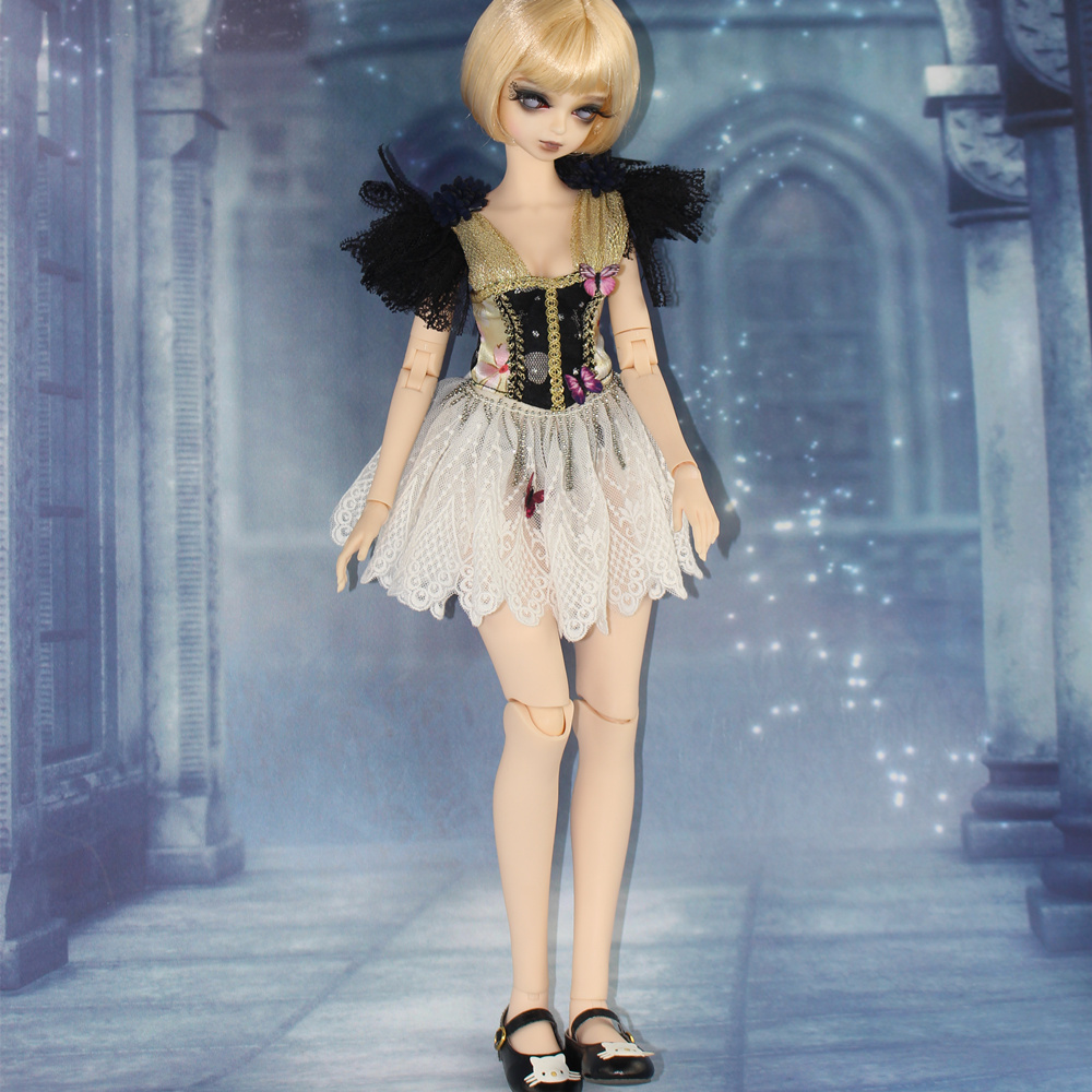 Fortune Days for 1/4 BJD Doll 45cm Highly Sexy lace stitching dress butterfly set High Quality Blyth reborn girls Toy Gifts
