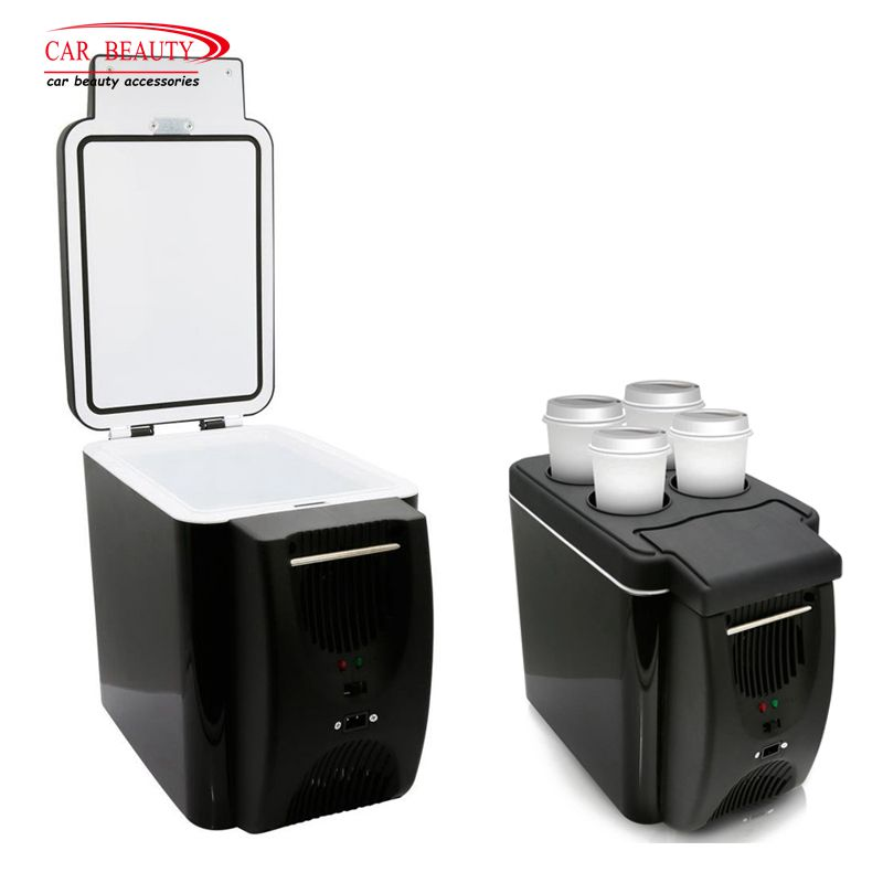 12V 6L Mini Car Refrigerator Cooler Warmer for Camping 2 in 1 Portable Electric Auto Fridge Icebox Cooler Travel Box Freezer