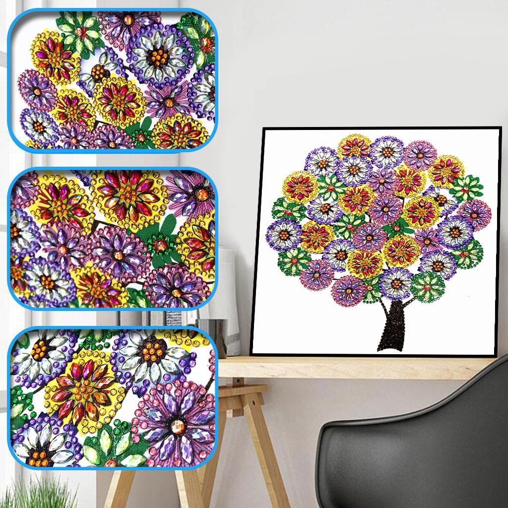 Sashiko Special Shaped Diamond Embroidery Winter Flower Tree 5d Painting Rhinestone Drill DIY Crystal