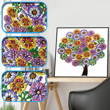 Sashiko Special Shaped Diamond Embroidery Winter Flower Tree 5d Painting Rhinestone Drill DIY Crystal