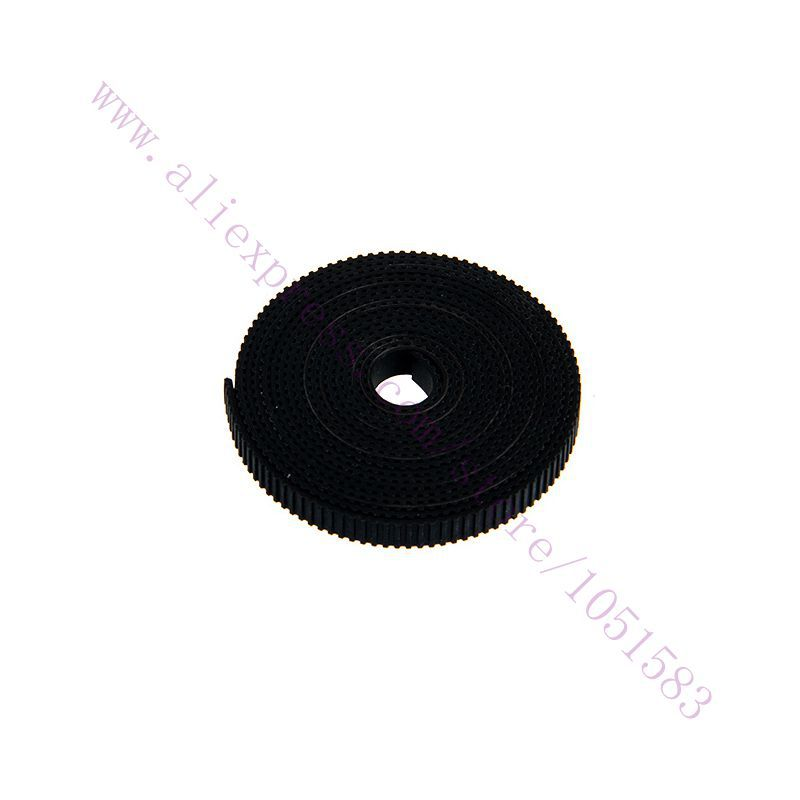 10 Meters High Quality Black 2GT GT2-6mm Width Rubber Open Type Timing Belt For 3D Printer CNC Use