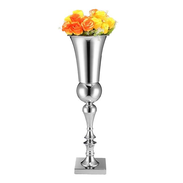 65cm Stunning Silver Iron Luxury Flower Vase Urn Flower Pot Home