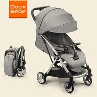 Doux bebe Детские коляски легкие детские багги четыре колеса коляски Складные Путешествия Системы коляски для новорожденных сайт kidstravel коляск