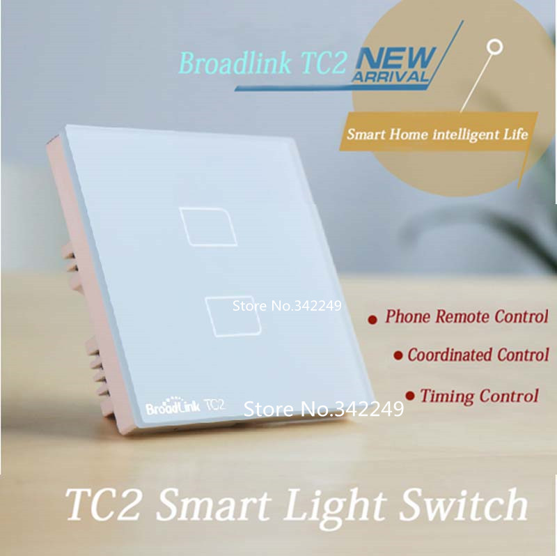 Broadlink TC2 2 gang,UK Standard,smart home Automation,mobile Remote ...