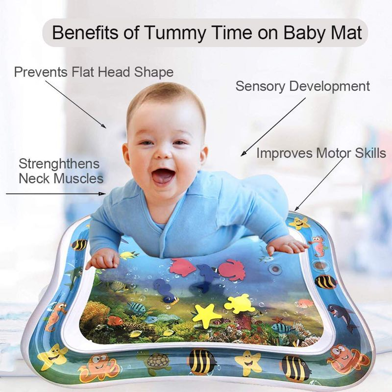 Image 5 - Inflatable Dual Use Baby Toys Kids Play Mat Inflatable Patted Pad Baby Tummy Water Mat Prostrate Water Cushion Pat Pad-in Play Mats from Toys & Hobbies
