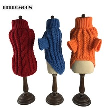 HELLOMOON pet sweater handmade dog sweaters Red wine winter clothes for small dogs