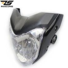 ZS-Racing Universal Rracing Motocicleta Linterna Con Bombilla Y El Soporte Utilizado Para Y.M.H FZ16 Rojo Negro Azul Gris Color faro