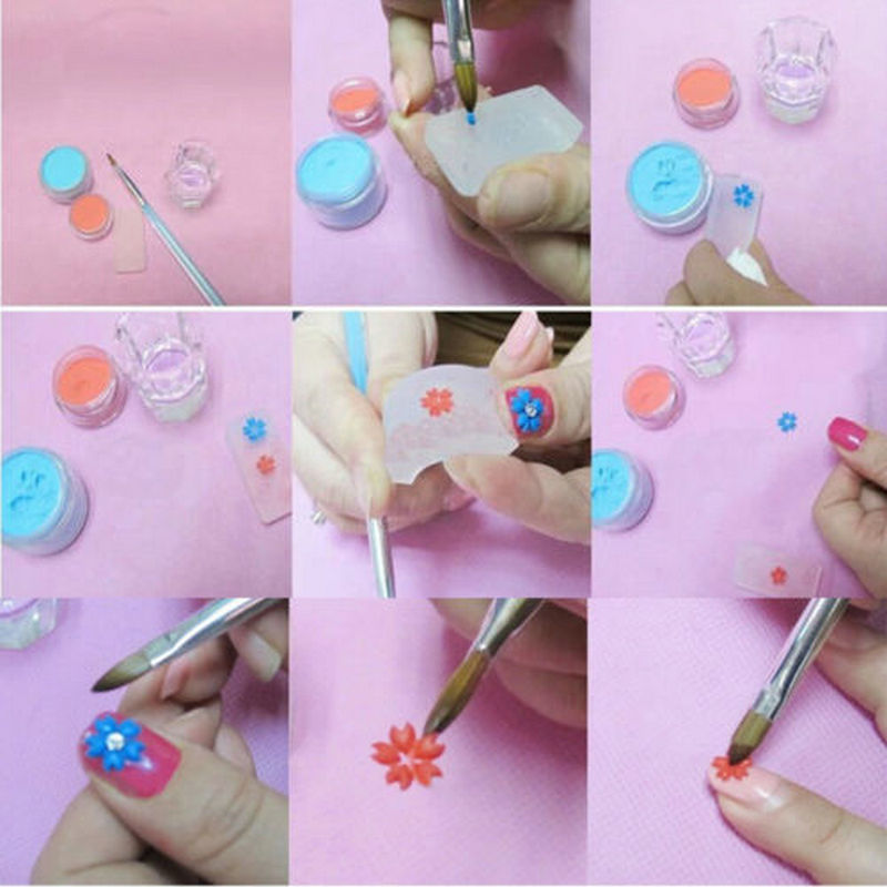 Moldes for nail picture more detailed picture about 2016 for 3d acrylic nail art mold diy decoration