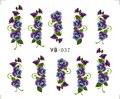 1X Nail Sticker Gran Vid de La Flor de Agua Traslados Pegatinas Nail Stickers decals Agua Decal Manga Opp Embalaje YB037-042