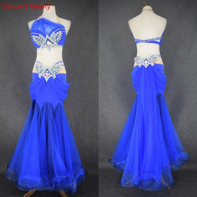 Belly Dance Clothes Sexy Bra Long Skirt Girls Belly Dance Set Ballroom Dance Suit For Girls