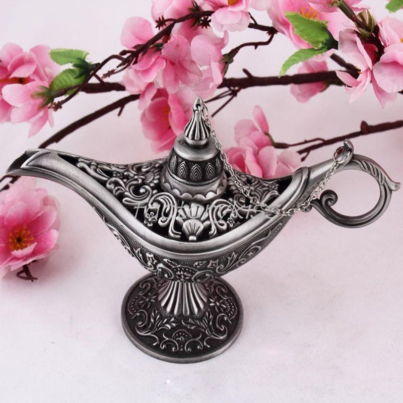 Fairy Tale Aladdin Magic Lamp Tea Pot Genie Lamp Vintage Retro Toys For Children Home Decorations 4007-042