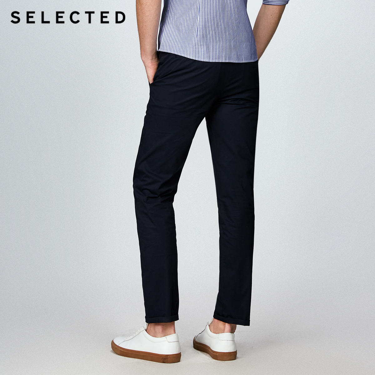 Image 3 - SELECTED  cotton business leisure straight leg long pants S4182W2511-in Casual Pants from Men's Clothing