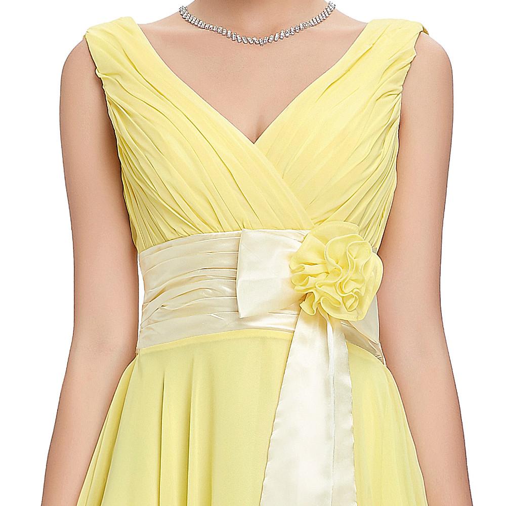 Knee Length Short Chiffon Bridesmaid Dress 6