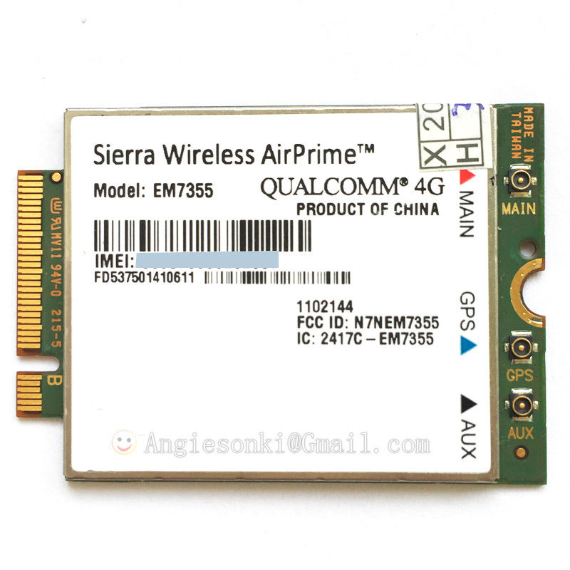 Quad-Band EM7355 Gobi 5000 100 mb/s HSPA + LTE 4G moduł dla Sierra Wireless AirPrime WWAN karta dla at & t